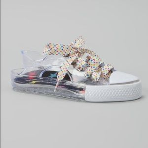 LITTLE MISS MATCHED clear Zany Jelly Sneakers